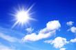 Leinwandbild Motiv blauer Himmel