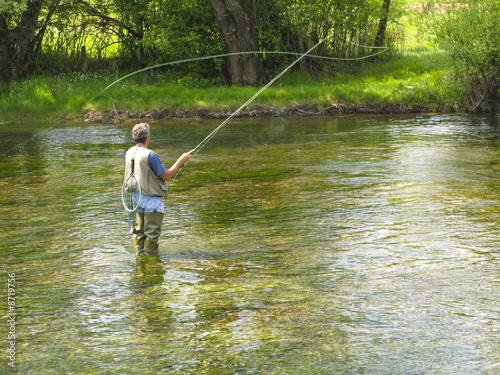 Printed kitchen splashbacks Fishing Fly fishing on Ribnik river