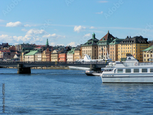 Poster de jardin Europe Méditérranéenne skyline of Stockholm