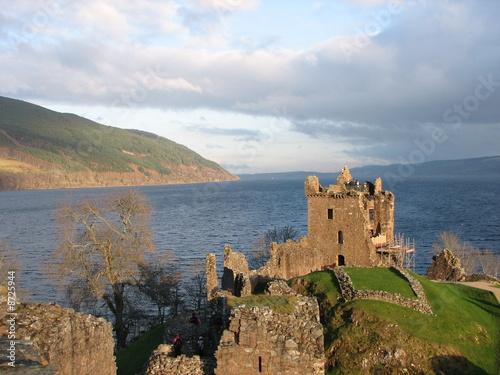 Deurstickers Rudnes Urquhart Castle