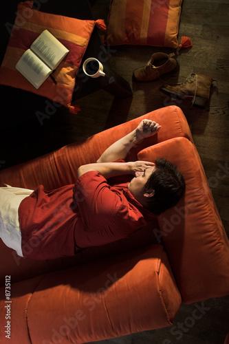 Deurstickers Ontspanning Resting at home