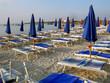 Shore with beach umbrella