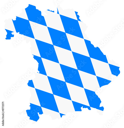 Bayern Karte Fahne Bavaria Vektor Map Buy This Stock Vector And