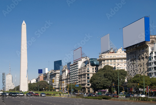 Spoed Foto op Canvas Buenos Aires 9 de Julio Avenue and The Obelisk in Buenos Aires, Argentina