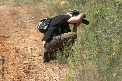 Foto op Canvas Jacht Photographe en randonnée