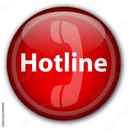 """Poster  """"Hotline"""" -Taste (rot)"""