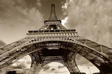 Torre Eiffel En Blanco Y Negro, Paris (France)