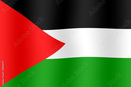 Leinwand Poster Drapeau de Palestine