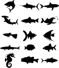 Fish Silhouette Vector File