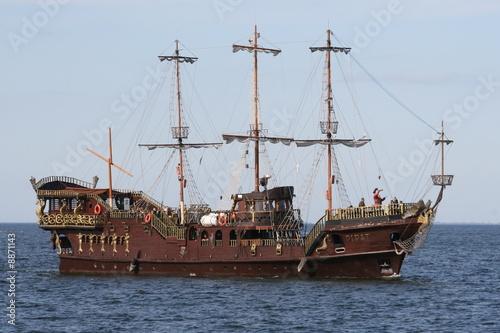 Tuinposter Schip the pirates