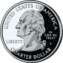 Isolated United States Quarter...