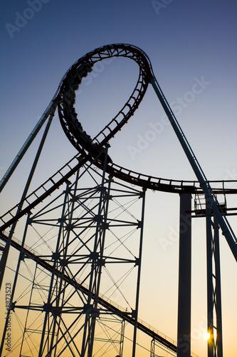 Poster Amusementspark Roller Coaster