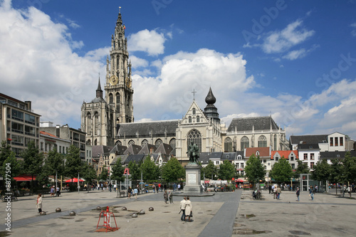 Foto op Canvas Antwerpen Antwerpen city center