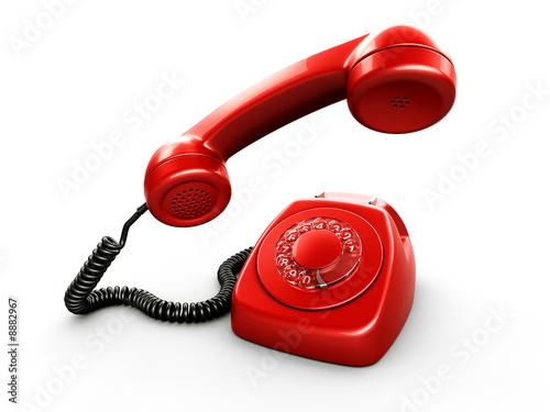 Fotografia  3d rendering of an old vintage phone