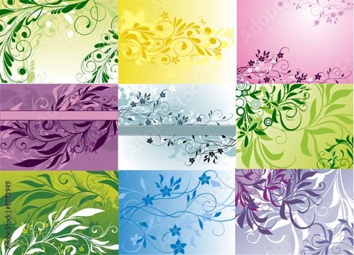 Papiers peints Papillons dans Grunge background collection - vector