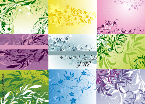 Cadres-photo bureau Papillons dans Grunge background collection - vector