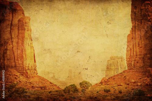 Grunge image of Monument Valley landscape. Canvas-taulu