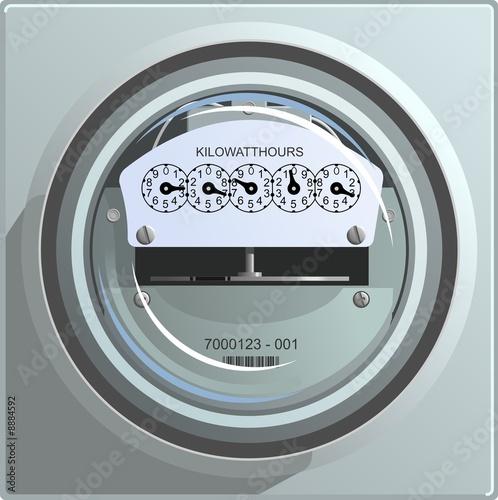 Fotografie, Obraz  Electric Power Meter