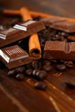 schokolade,zimt,kaffeebohnen