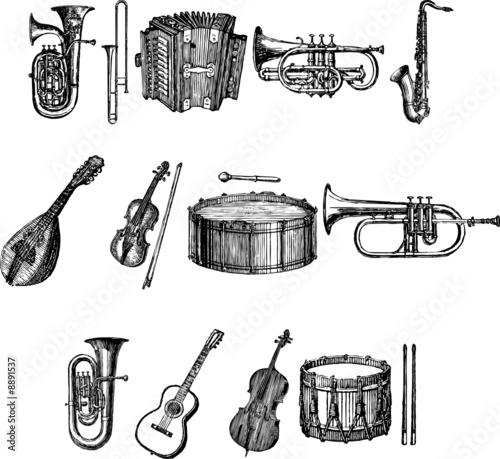 Musical Instruments Vectors Canvas Print