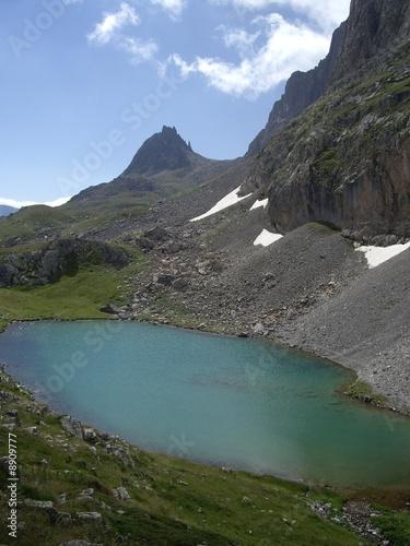 Spoed Foto op Canvas Eiland Lac des Hautes Alpes