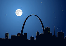 Moon Over Saint Louis, Missouri