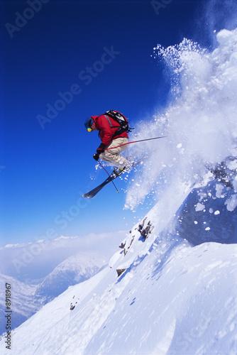 Fotografía  Skier jumping