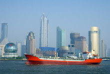 Red Ship With Shanghai