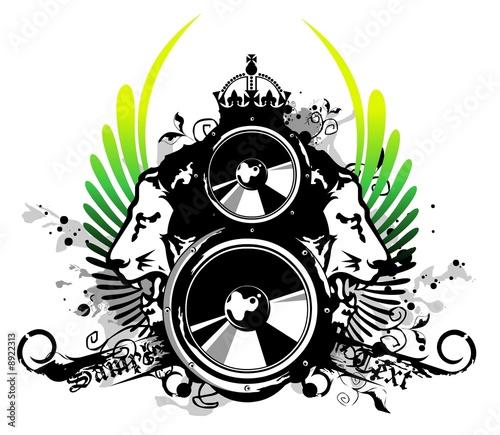 Fotografia Rasta music logo