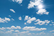 the blue sky and sun