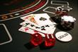 Leinwandbild Motiv im casino