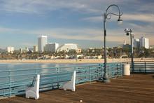 Santa Monica Beach View From The Pier