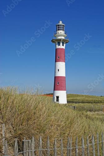 Foto-Kassettenrollo premium - Leuchtturm Nieuwpoort Nordsee Belgien