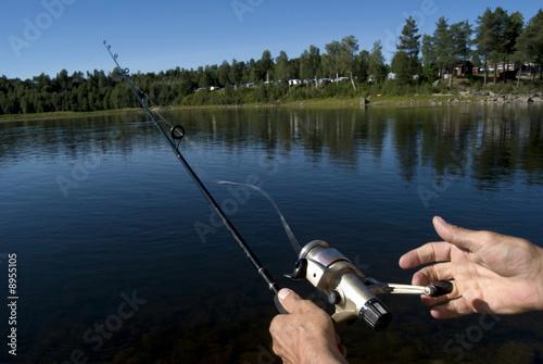 Printed kitchen splashbacks Fishing fry-fishing