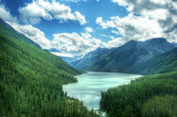 Fototapeta Góry Fantastic landscape. Shot in a mountain.