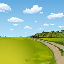 Countryside Road, Rural Scene