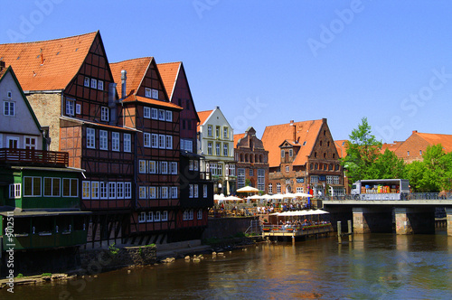 Fotografia, Obraz  Lüneburg, Altstadt an der Ilmenau