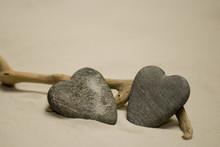 Herzförmige Steine