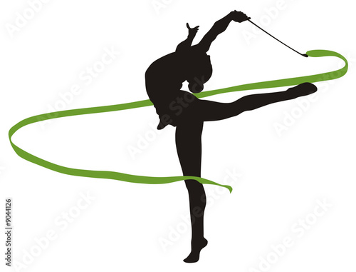 Foto op Canvas Gymnastiek rhythmic gymnastic