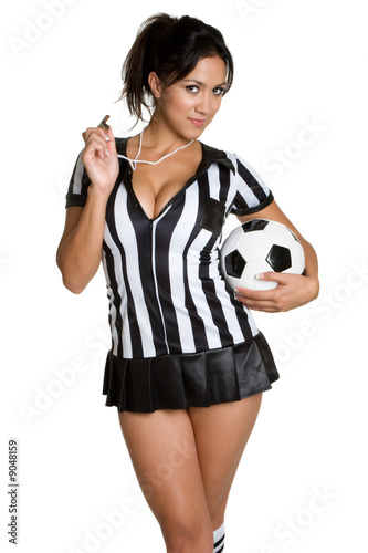 Fotografering  Soccer Referee