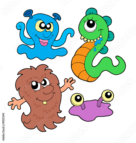 Deurstickers Schepselen Monster collection 3
