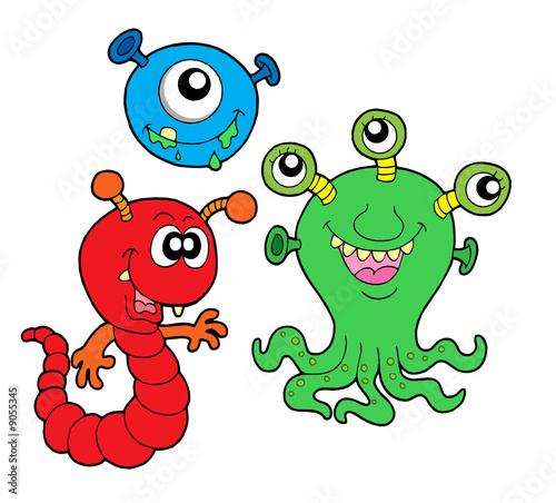 Deurstickers Schepselen Monster collection 2
