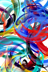 Fototapeta samoprzylepna Colorful background in abstract painting style