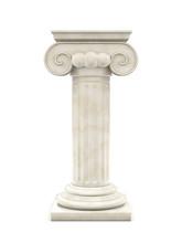 Marble Column Isolated