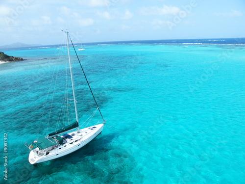 Foto-Kissen - Voilier en mer des Caraïbes