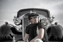 Portrait Of Driver Near The Vi...