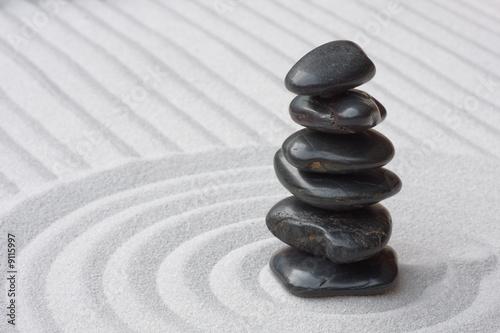 Doppelrollo mit Motiv - Steine auf Sand (Zen) (von Gero Brandenburg)