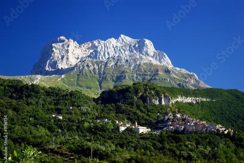 Fotografia Gran Sasso; Corno Piccolo (2655 mt) e Pietracamela