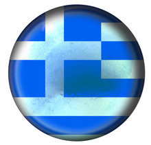 Buttonized Greece Flag