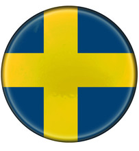 Buttonized Sweden Flag